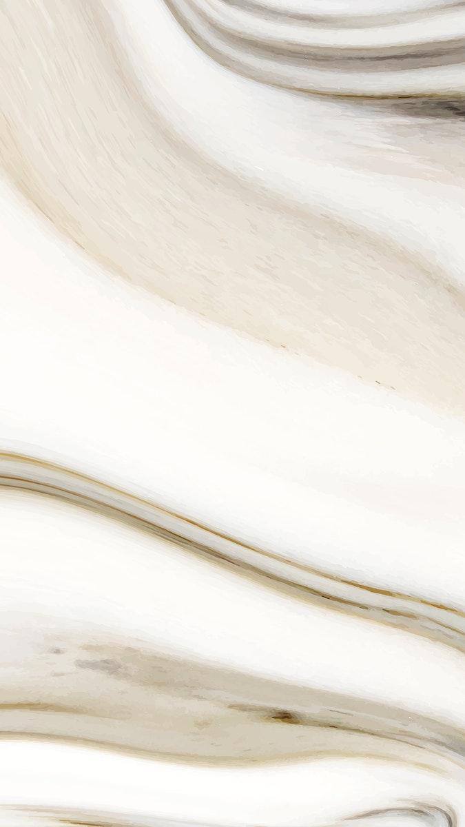 Fluid marble textured mobile phone wallpaper vector