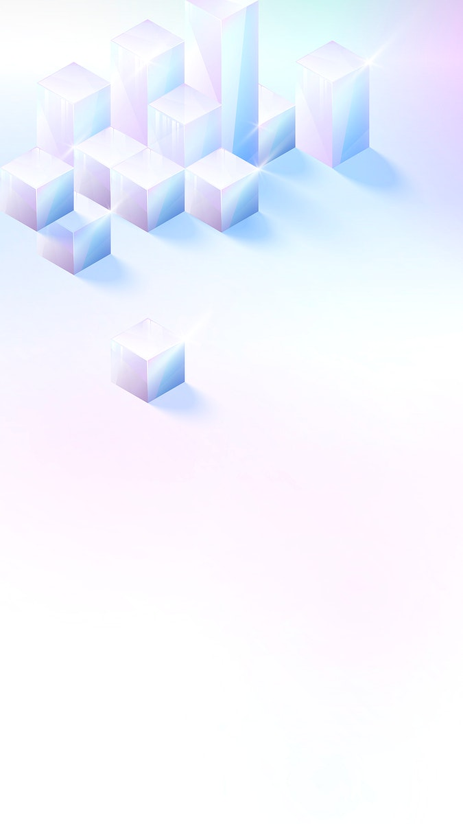 3D cube abstract design vector