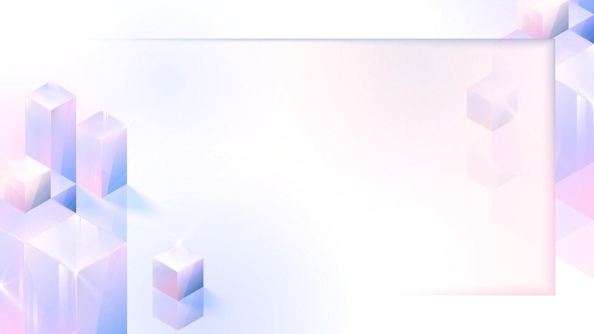 3D cube abstract frame design vector