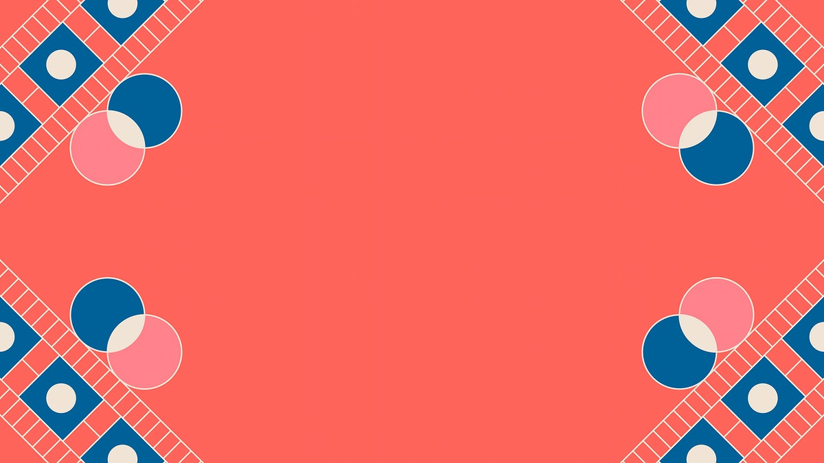 Ethnic geometrical patterned bright pink frame vector