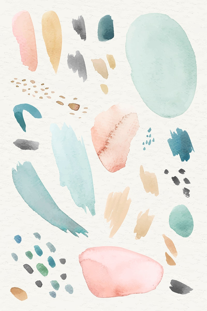 Colorful watercolor patterned background template vector