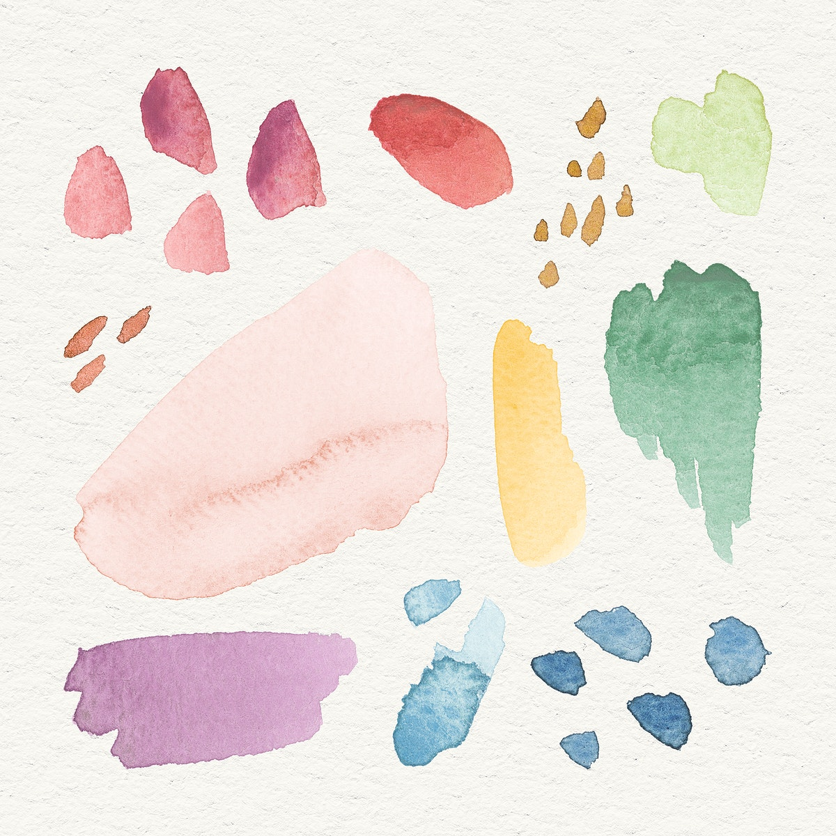 Colorful watercolor patterned background template illustration