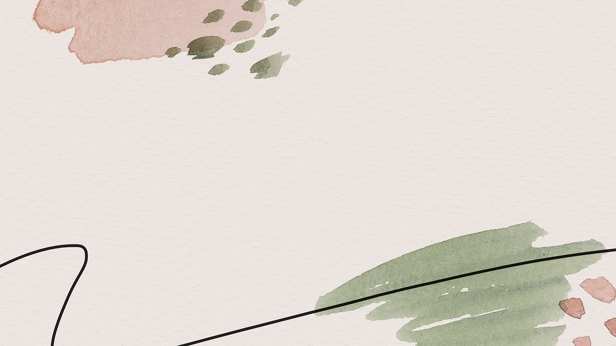 Pink and green watercolor patterned background template illustration