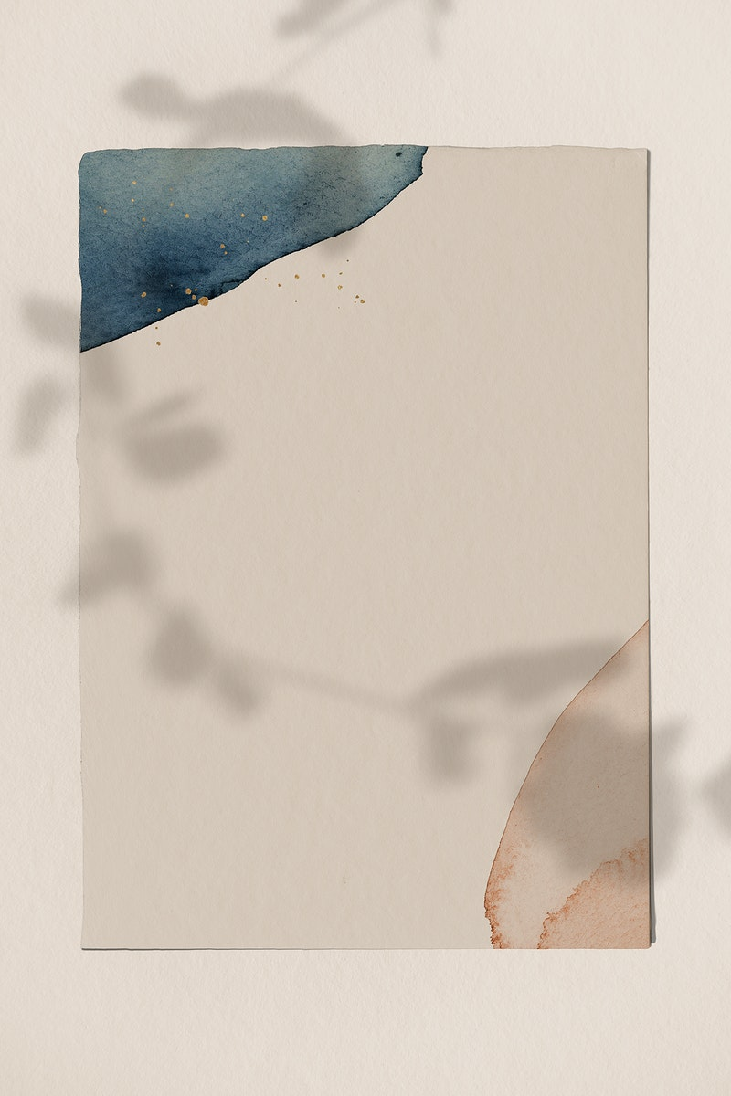 Watercolor patterned background template illustration