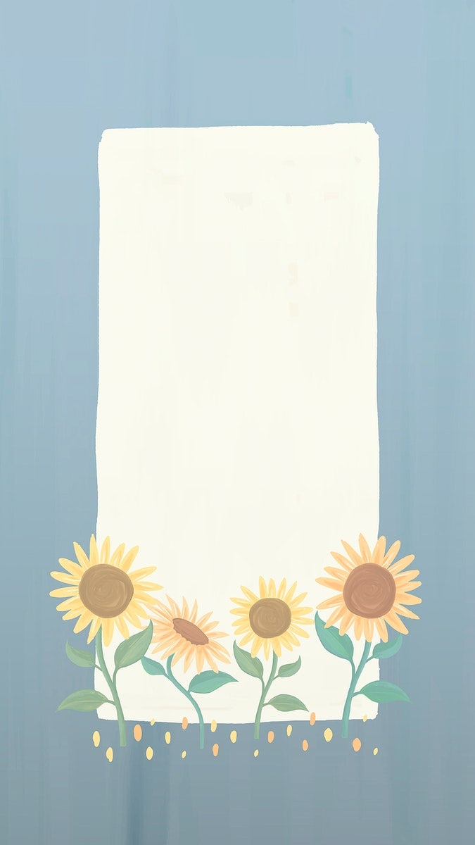 Rectangle sunflower frame vector