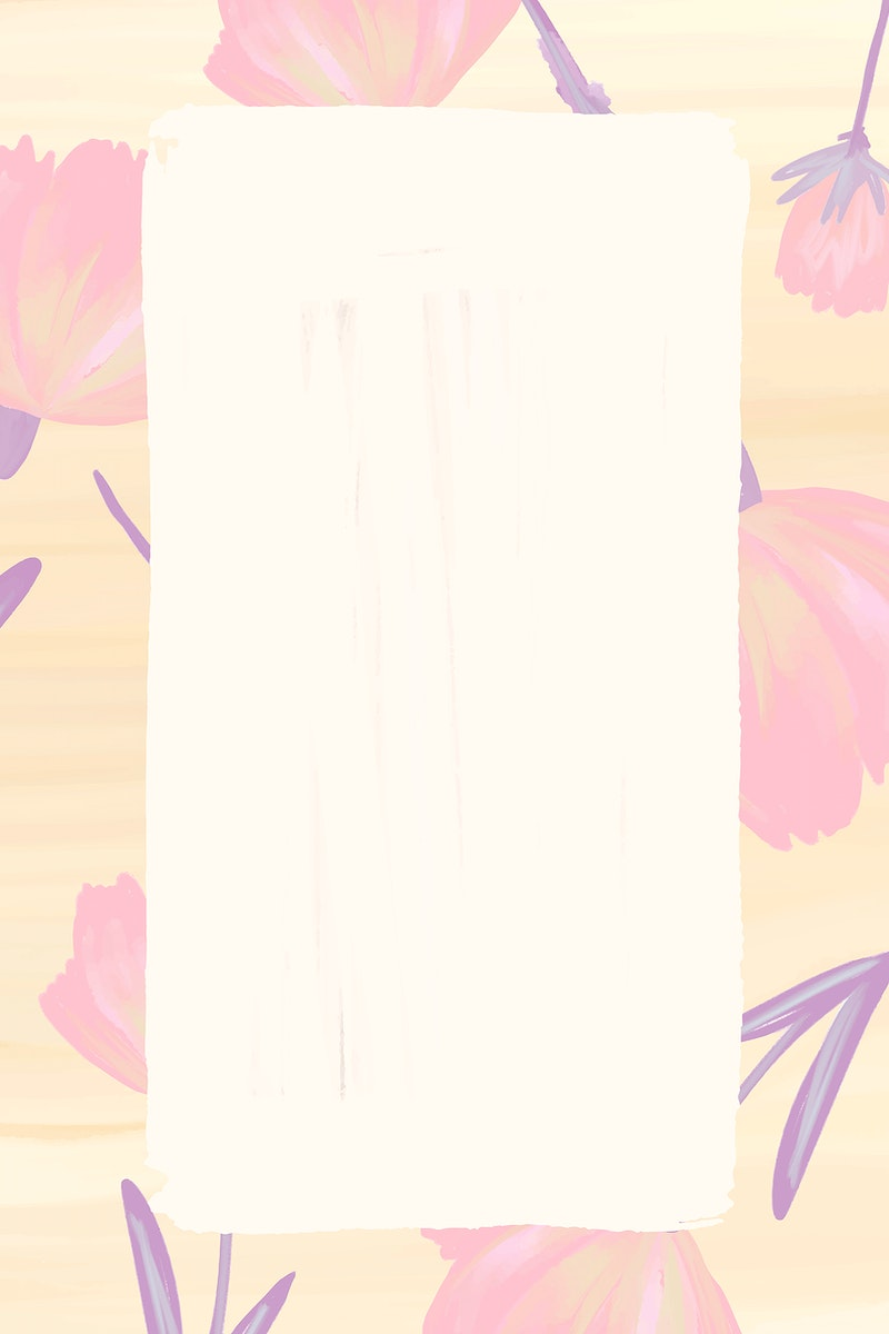 Rectangle cosmos flower frame vector