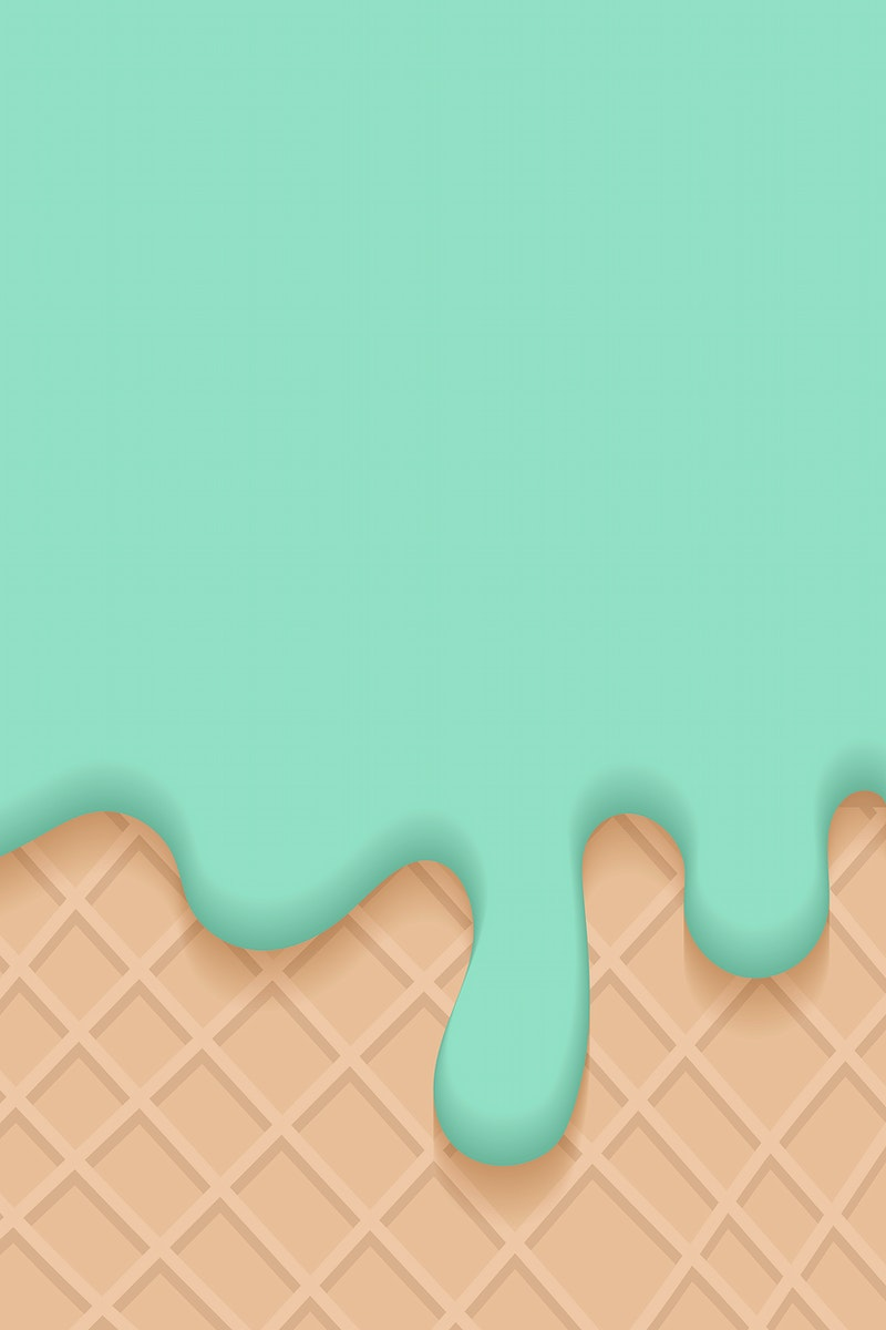 Waffles with green creamy ice cream vector