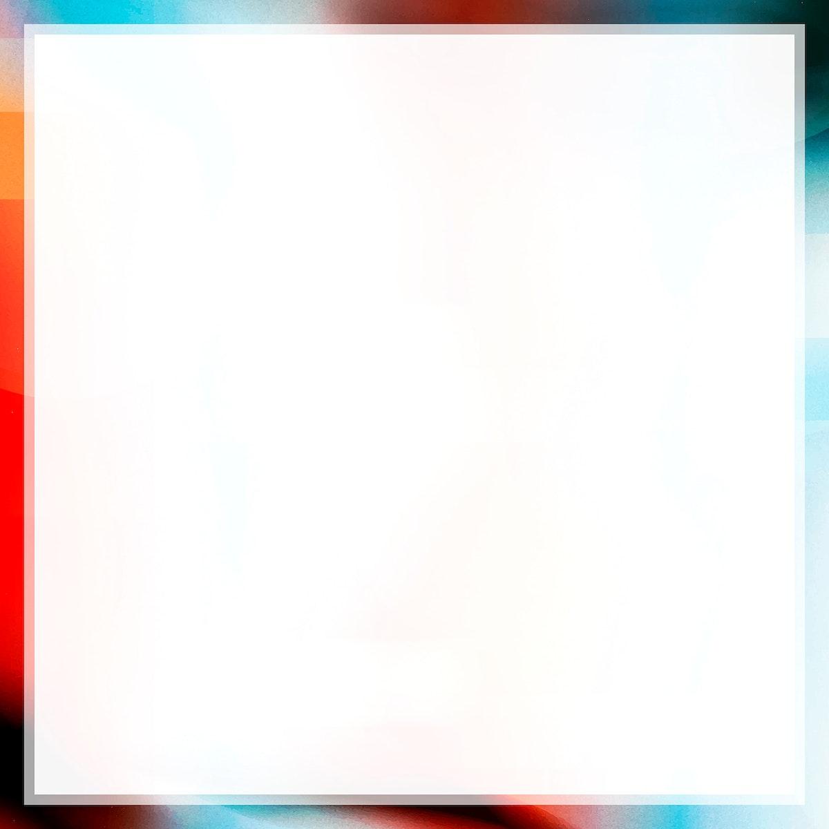 Colorful glitch frame vector