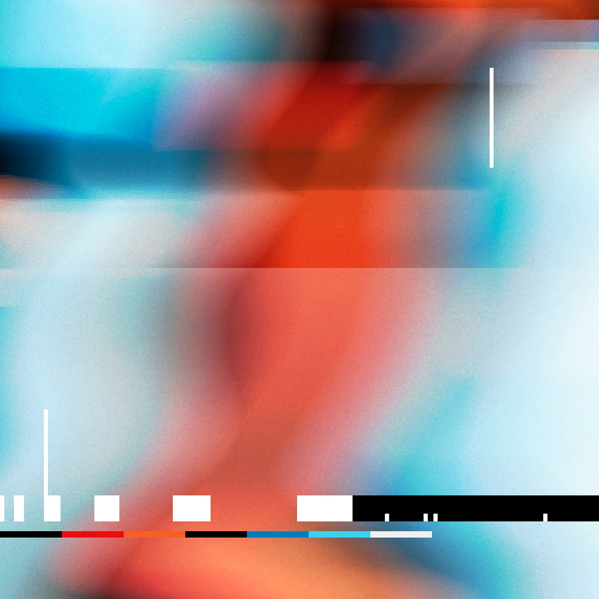 Colorful glitch effect distortion background vector