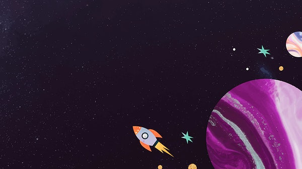 Watercolor Planets In Outer Space Royalty Free Vector 1230152