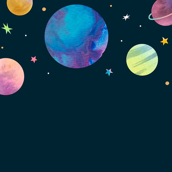 Watercolor Planets In Outer Space Royalty Free Vector 1230090