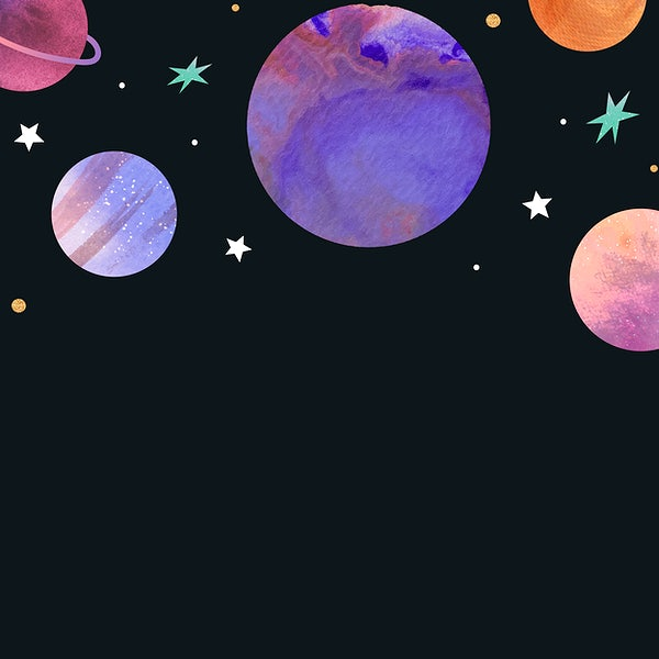 Watercolor Planets In Outer Space Royalty Free Vector 1230097