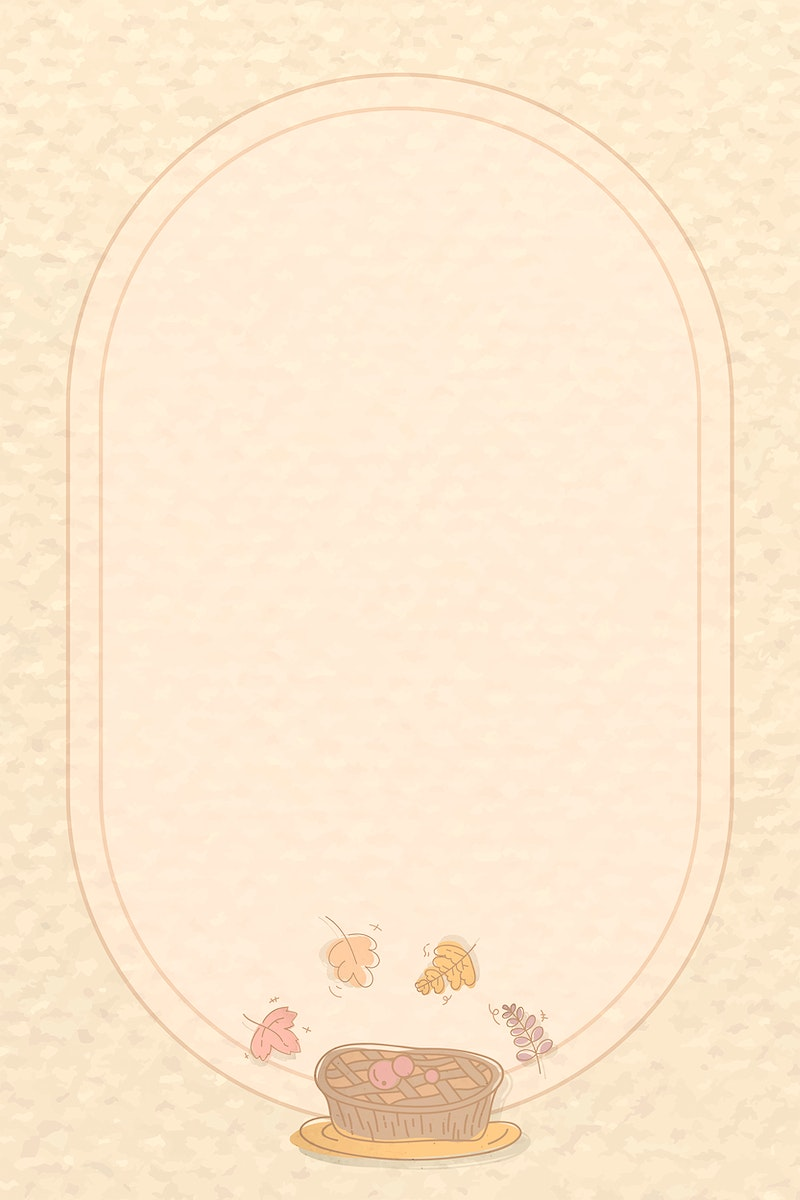 Frame with Thanksgiving doodle element vector