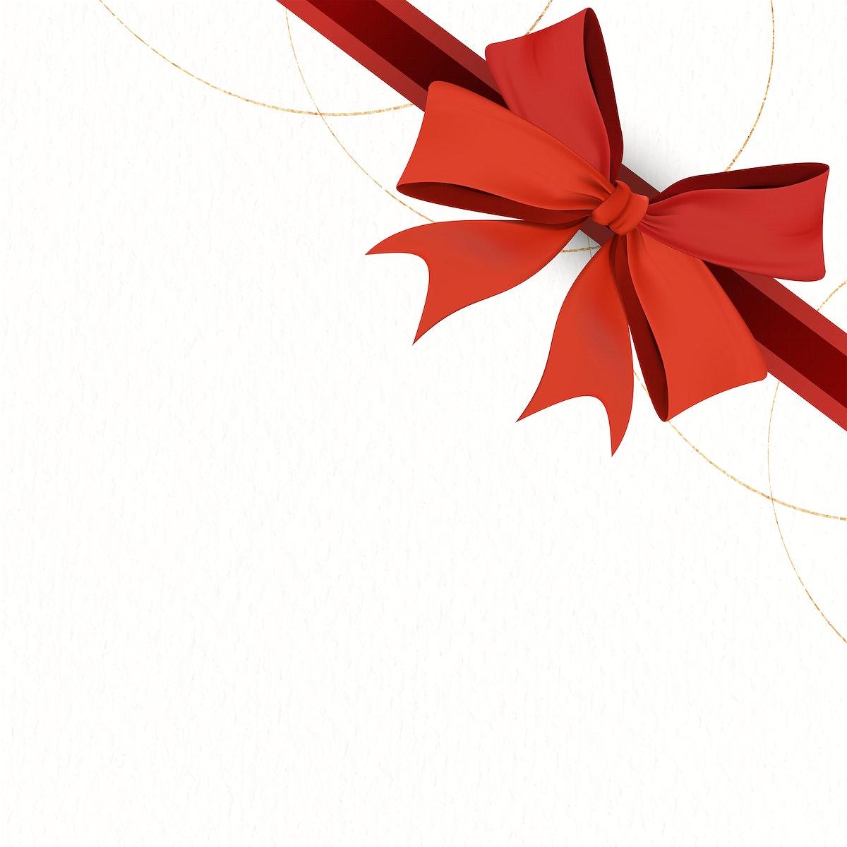 Red ribbon element illustration