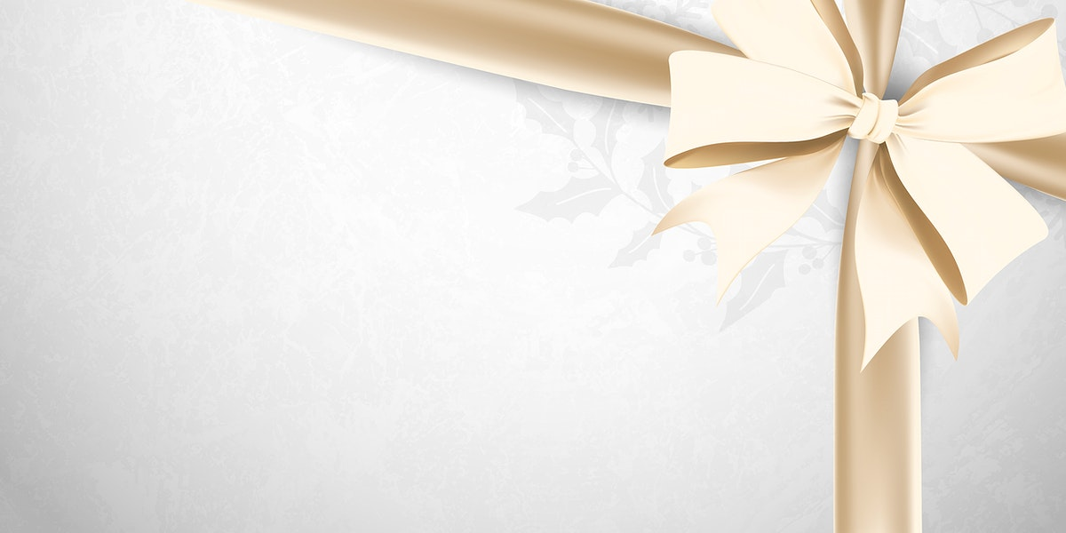 Gold ribbon bow on gray background vector