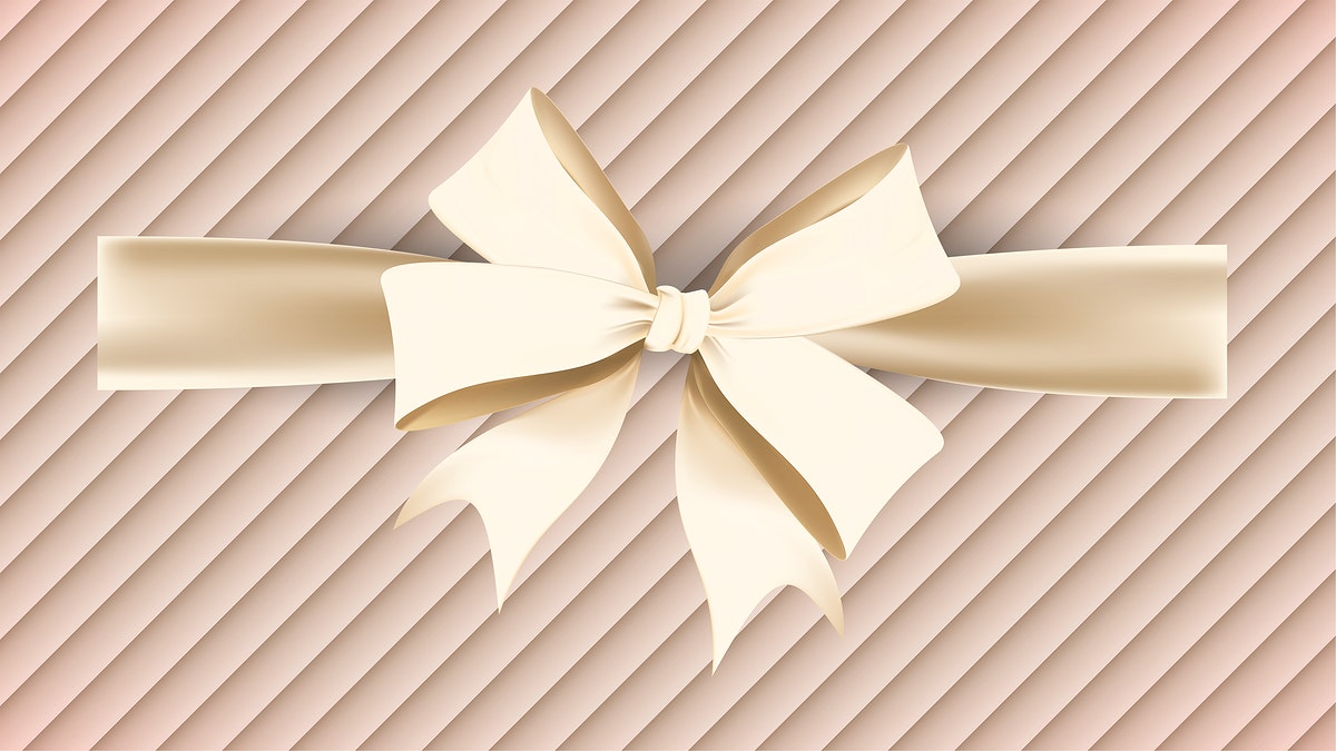 Gold ribbon element illustration