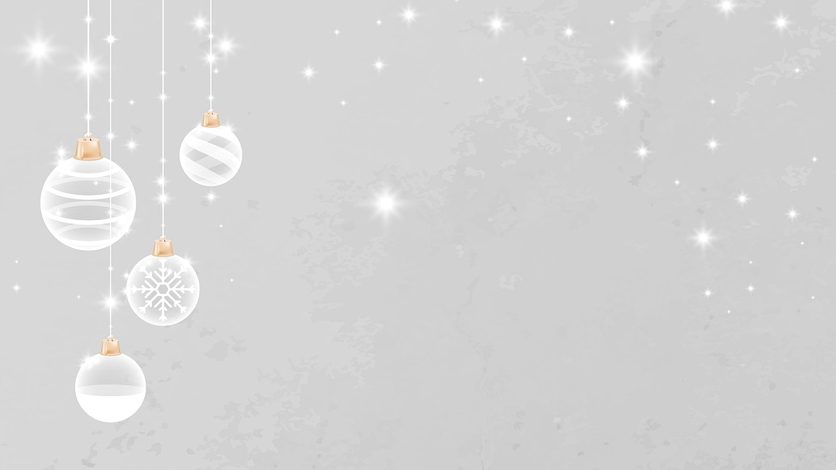White Christmas bauble patterned on gray background vector
