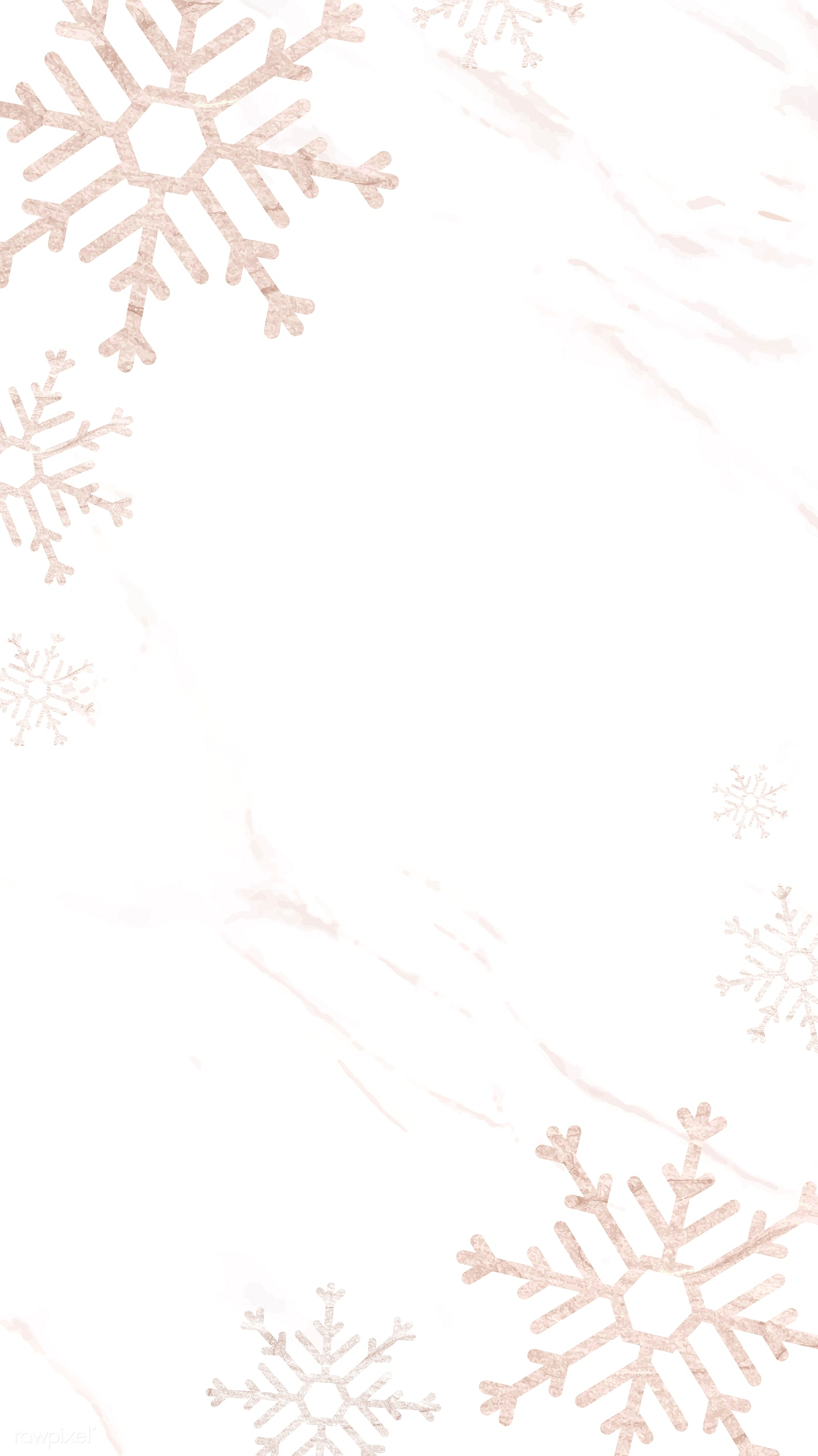 Download Premium Vector Of Snowflakes Patterned On White Mobile Phone