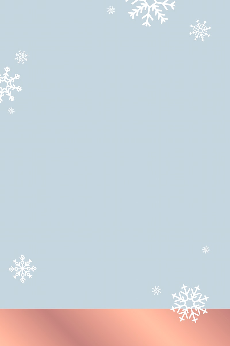 White snowflakes patterned on blue background vector