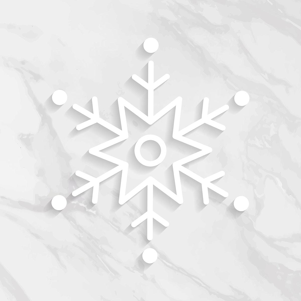 Snowflake Christmas social ads template illustration