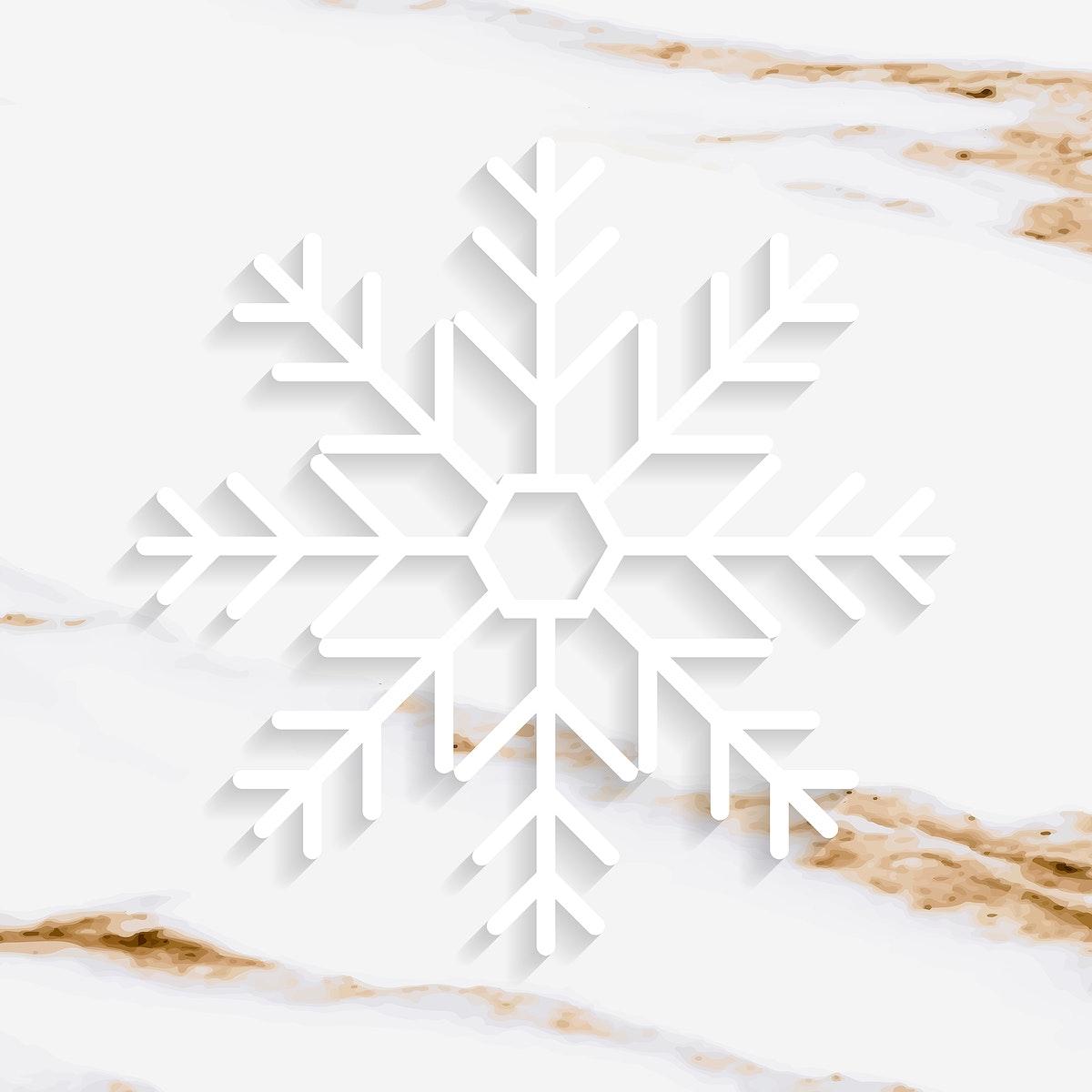 Christmas snowflake social ads template illustration