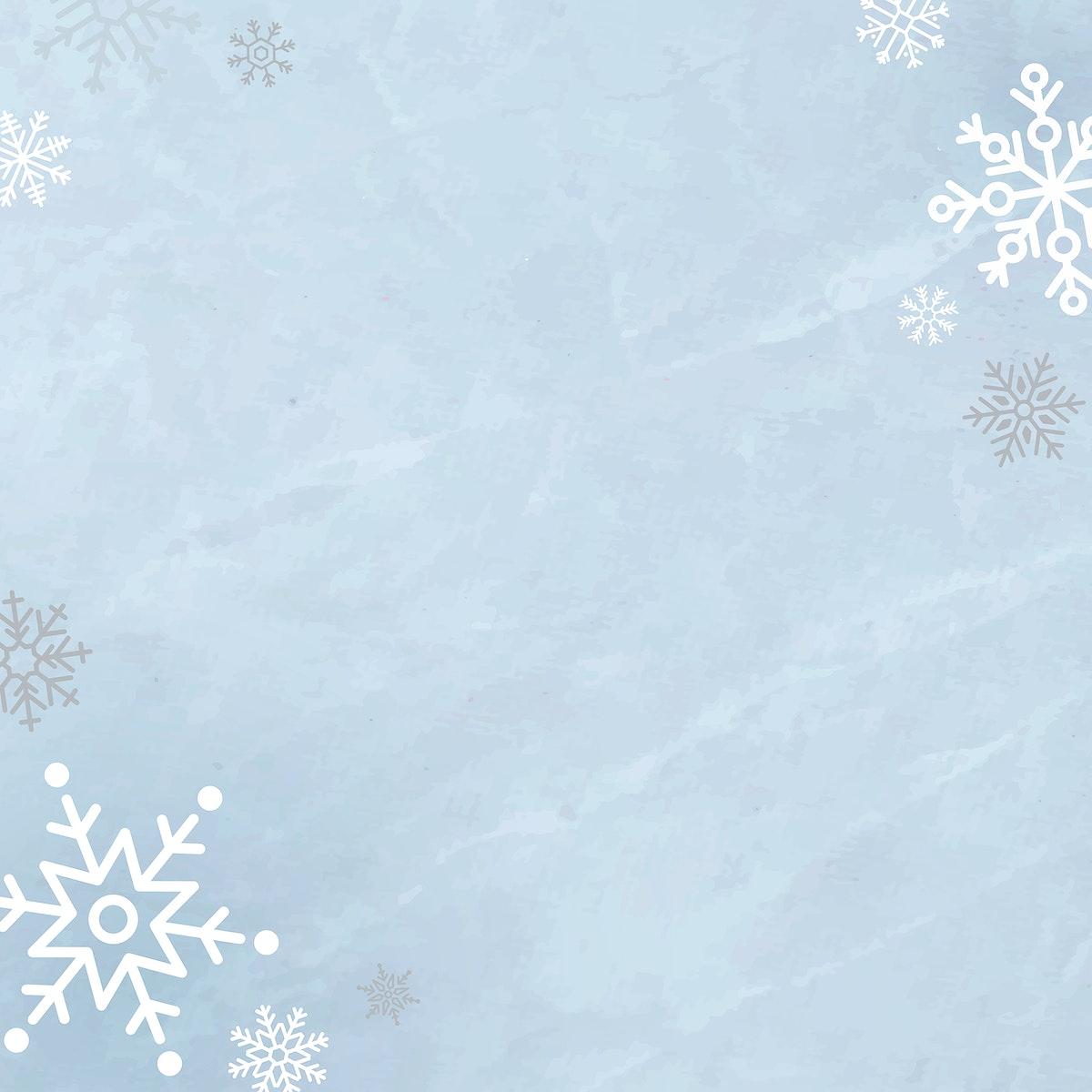Snowflake Christmas frame social ads template vector