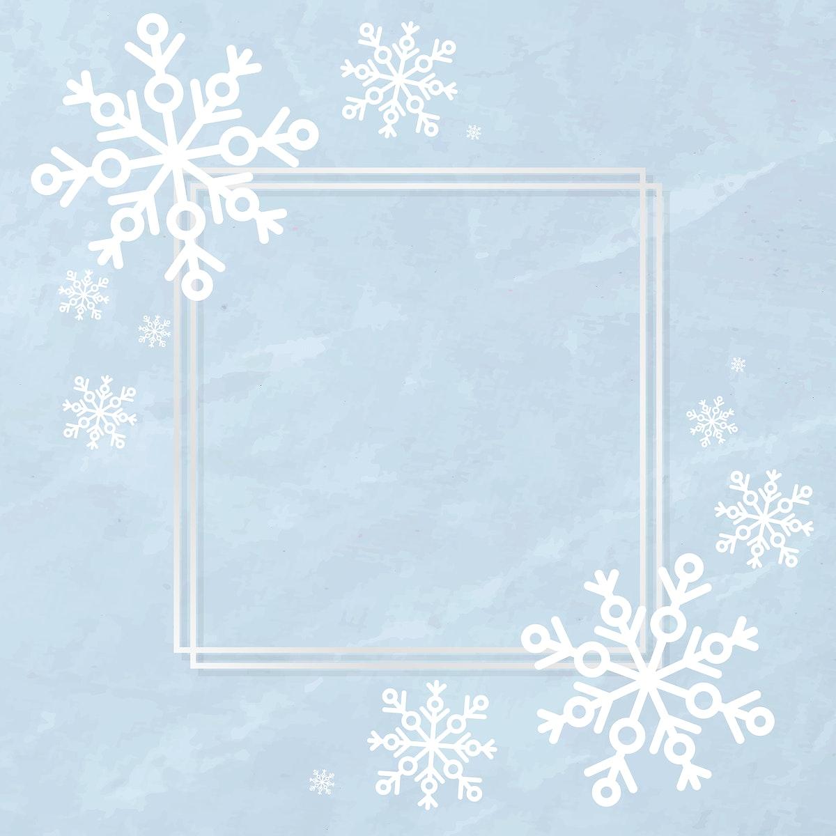 Snowflake social ads template illustration