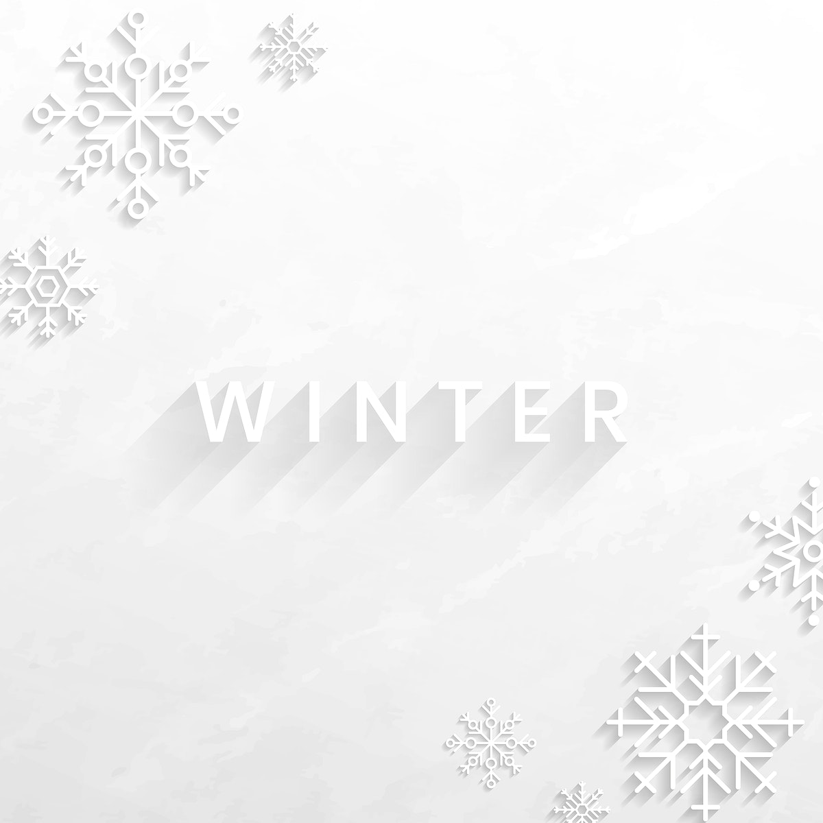Snowflake winter social ads template vector