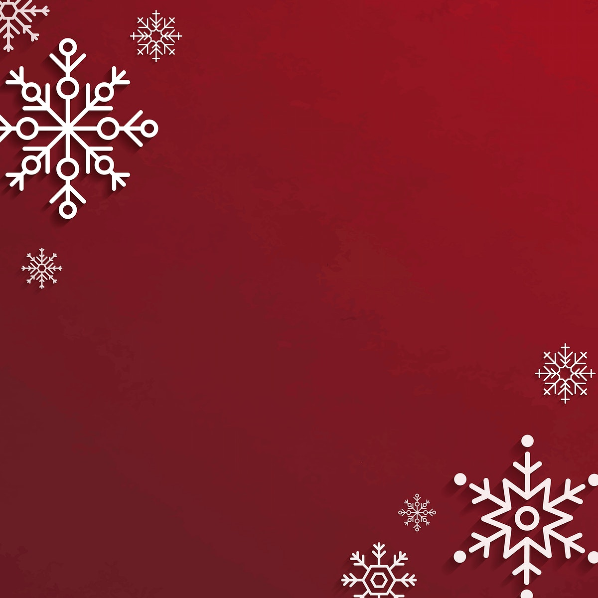 Christmas snowflake frame social ads template vector