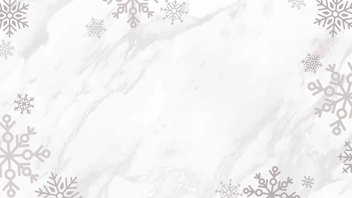 Snowflake Christmas frame design on a marble background vector