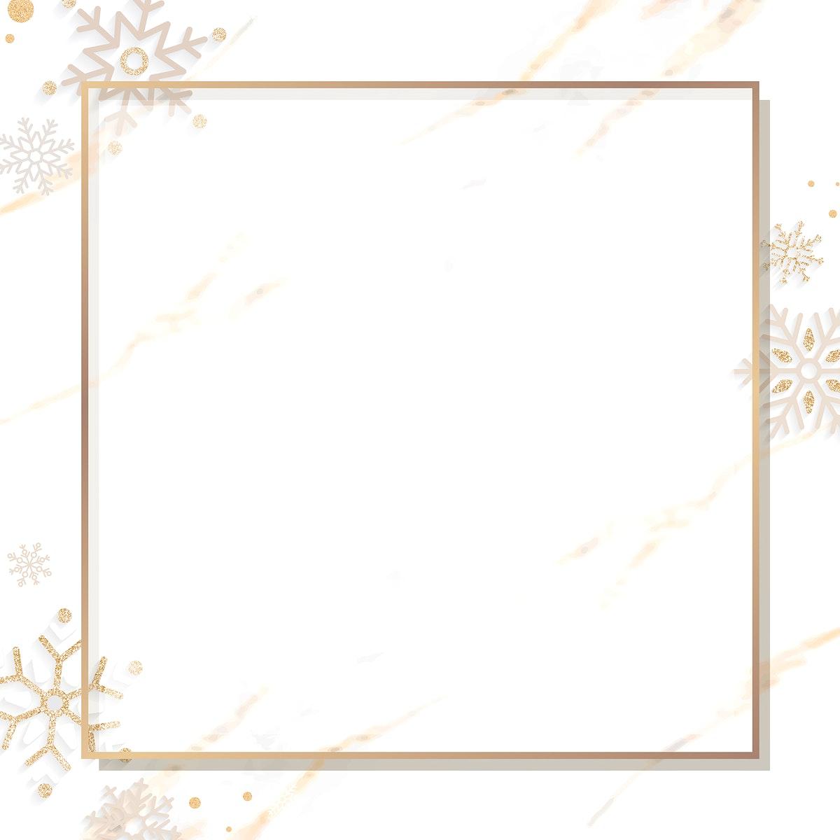 Golden Christmas social ads template vector