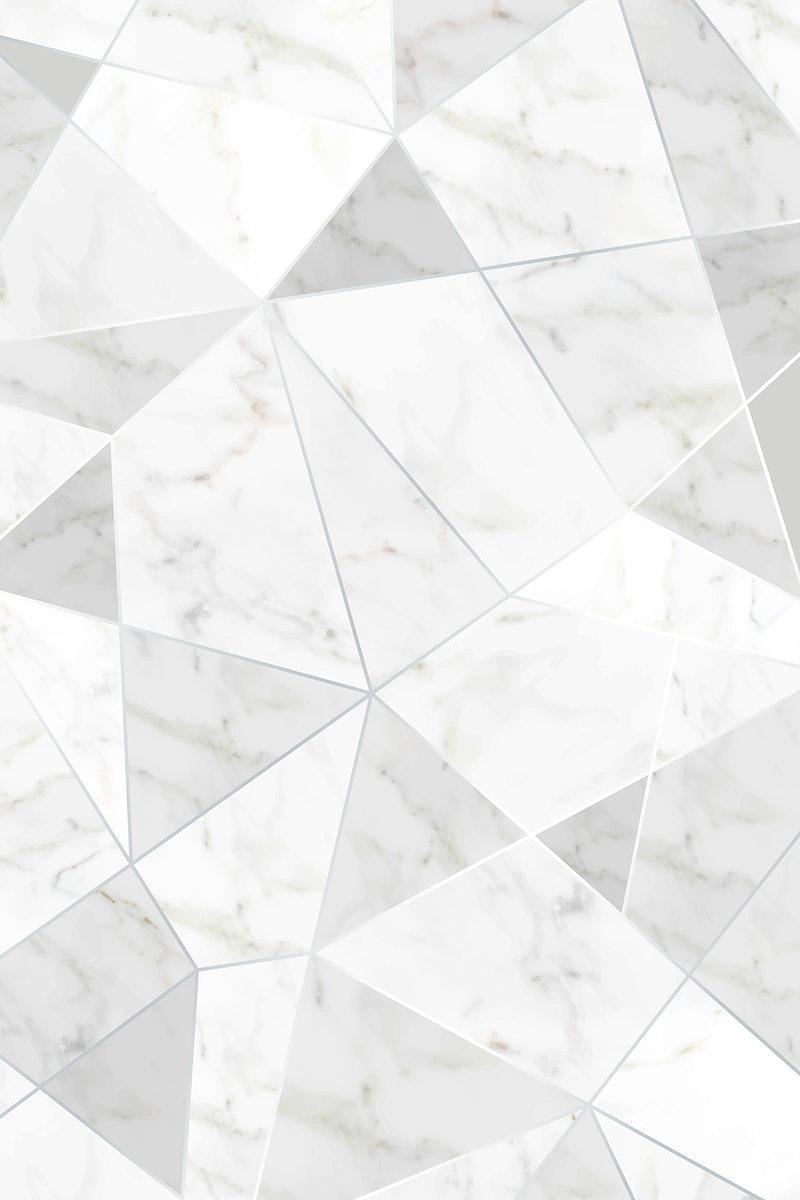 Gray triangular wallpaper design vector