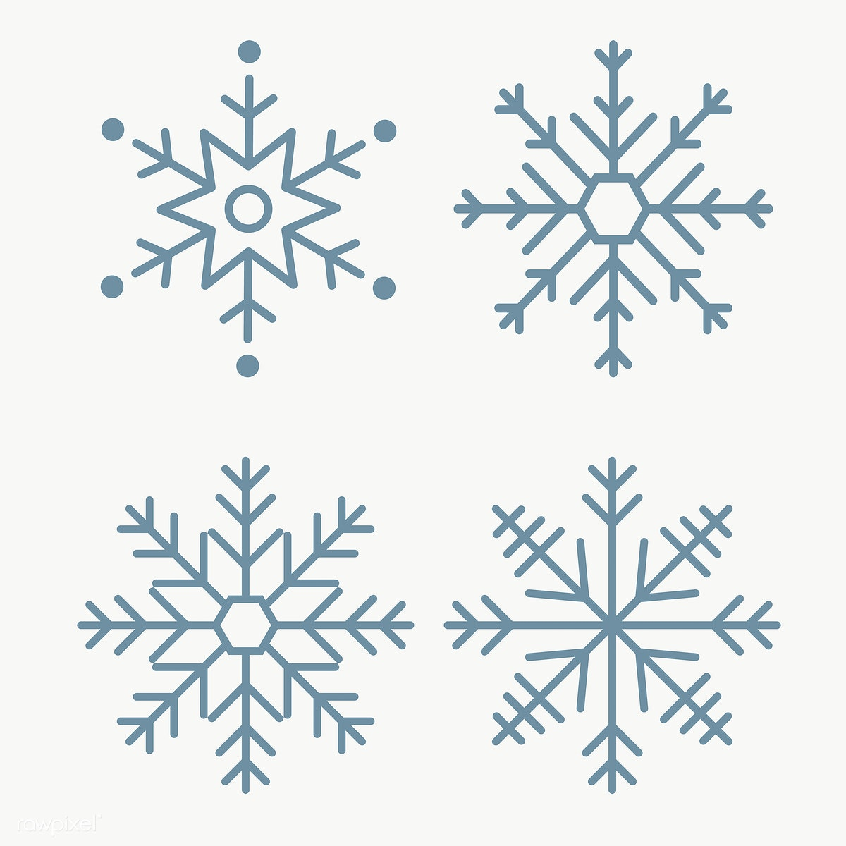 Winter Snowflake Set Free Transparent Png 1234099