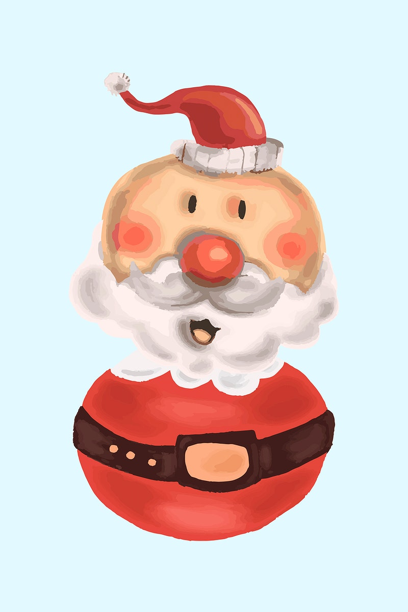 Cute Santa Claus doll element vector