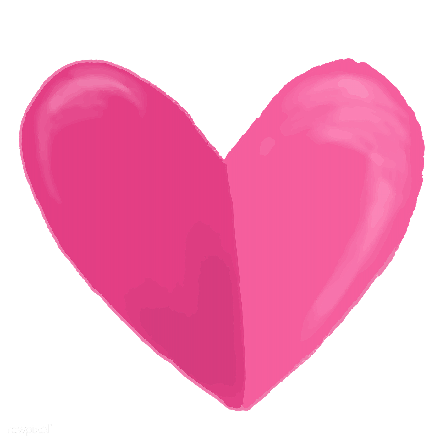 Hand drawn pink heart | Free transparent png - 1231023