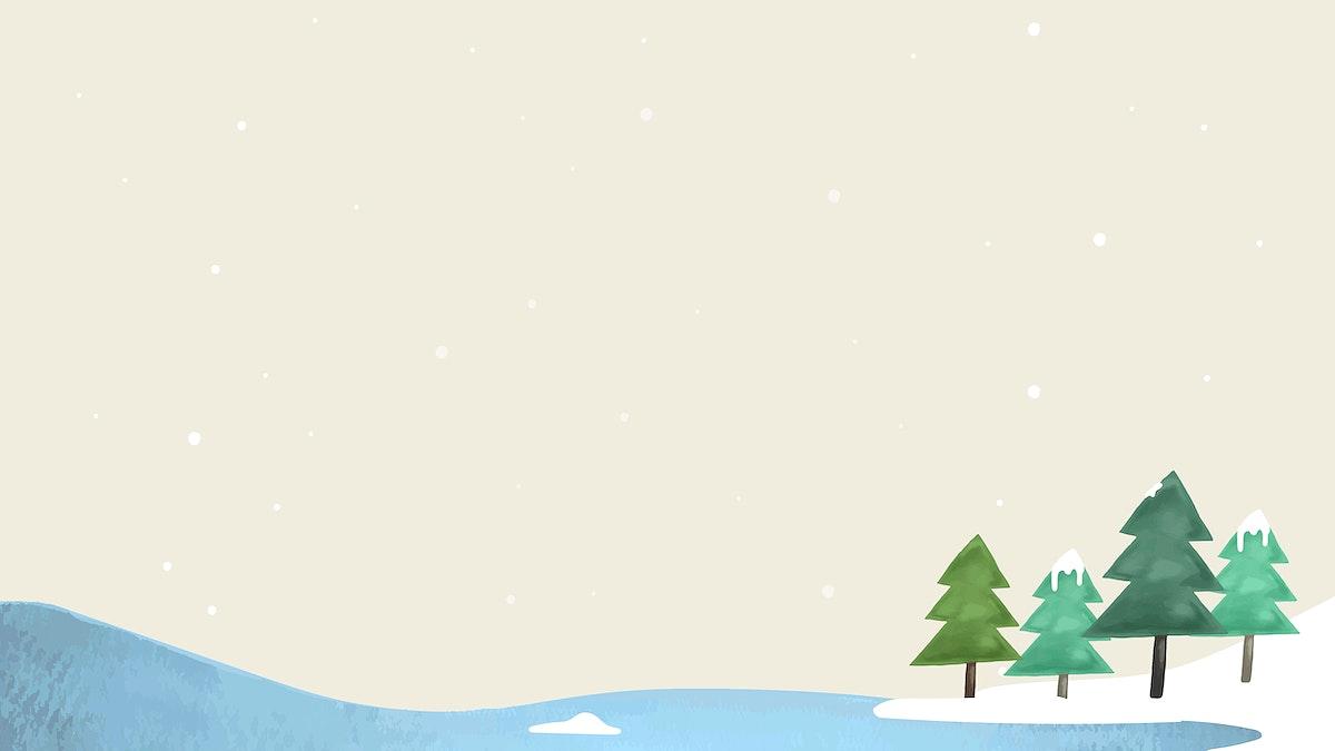 Pine forest on beige background vector