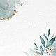 Shimmering watercolor leafy frame vector