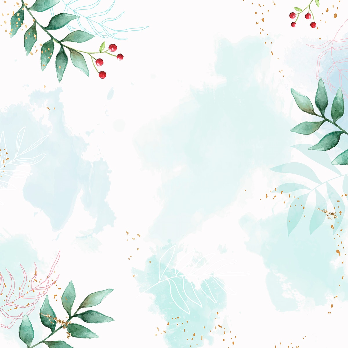 Christmas patterned on blue background vector