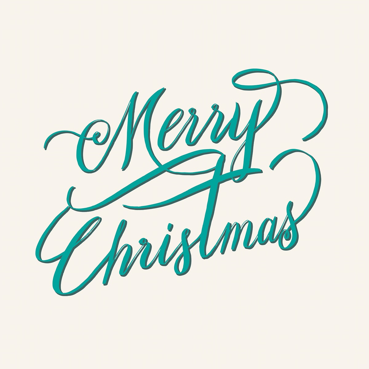 Merry Christmas typography style vector