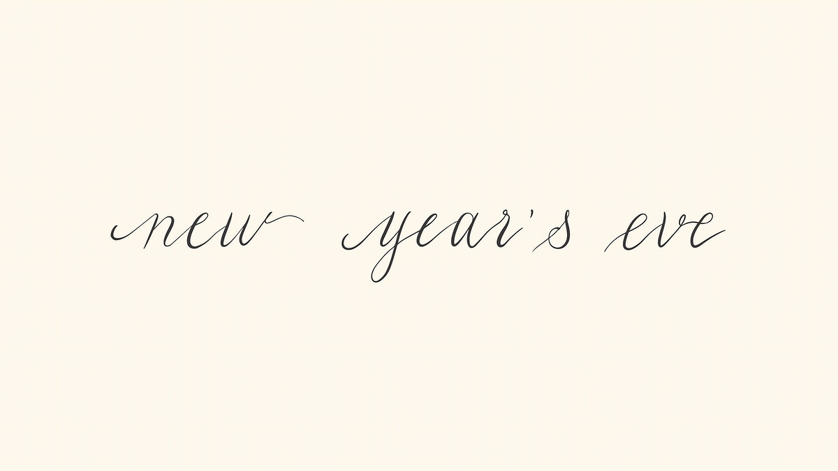 New Year's Eve typography design vector