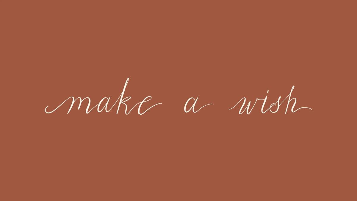 Make a wish typography design vector