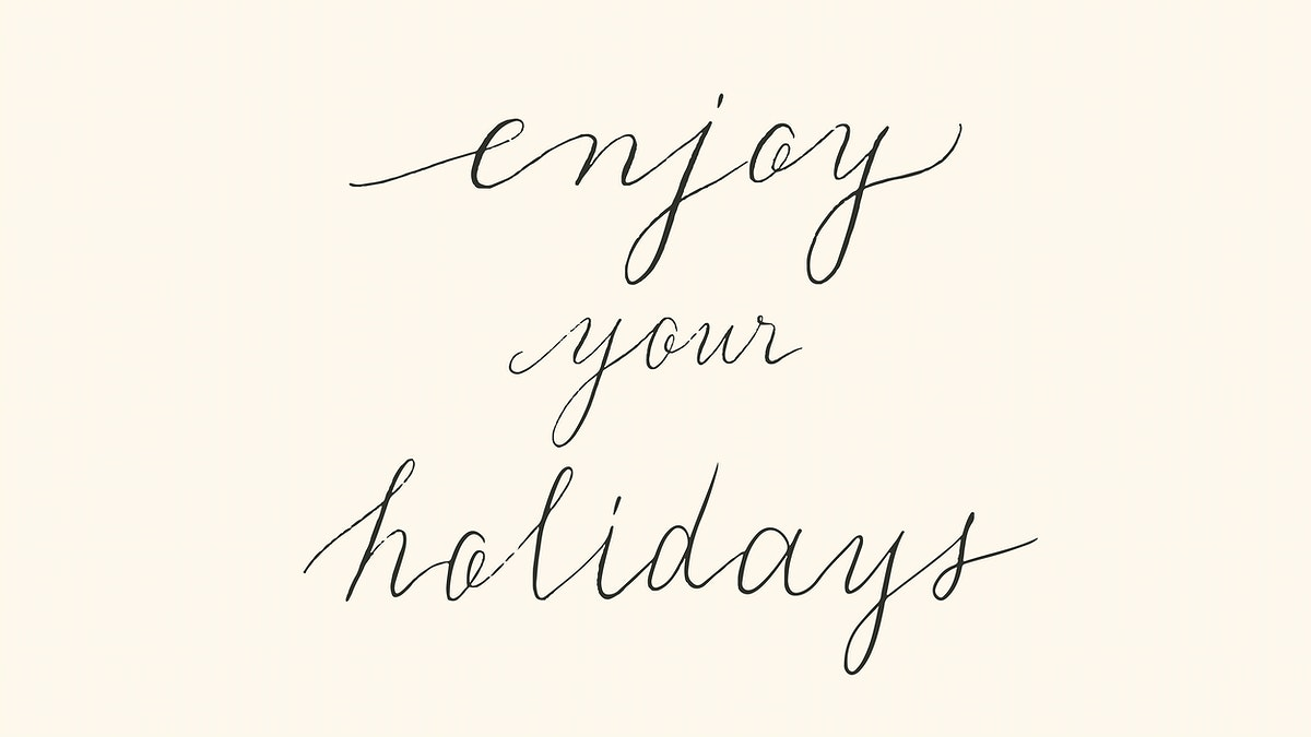 Enjoy your holiday typography design vector