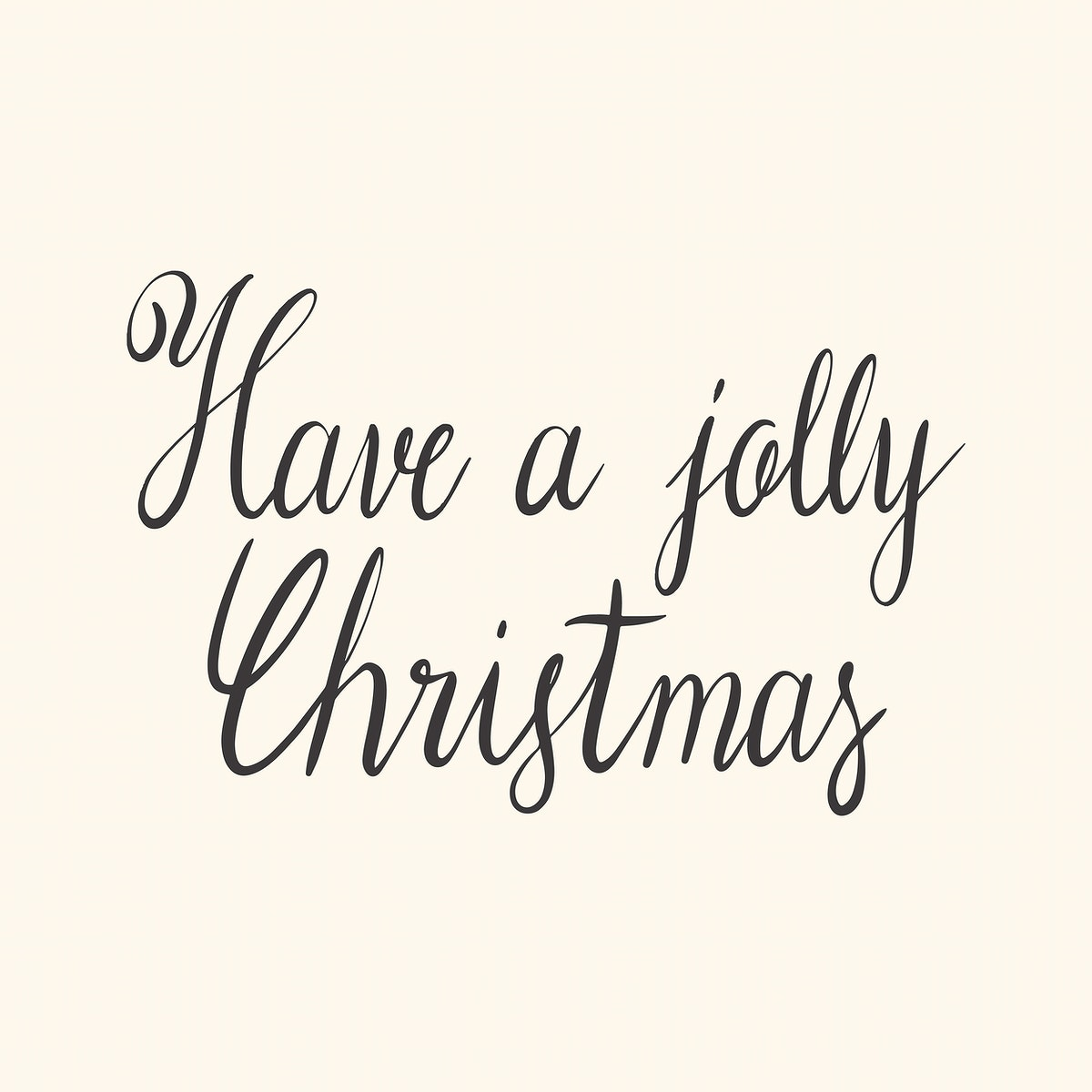 Have a jolly Christmas typography style vector