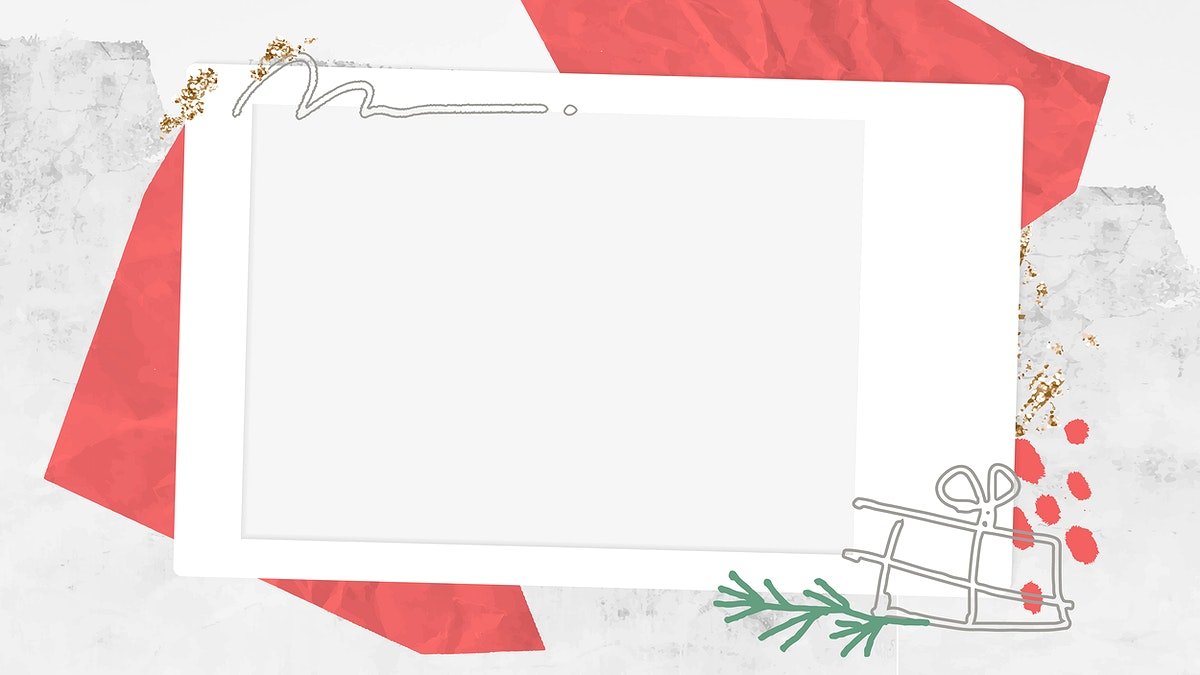 Decorative Christmas instant photo frame vector