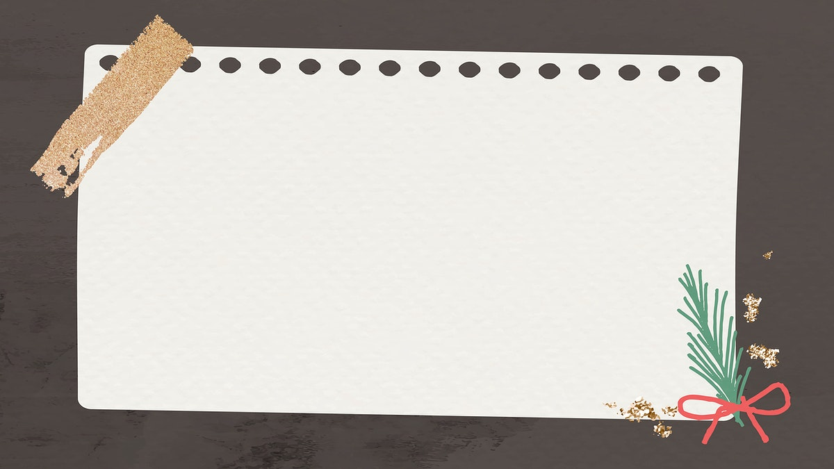 Decorative Christmas note paper on black background vector