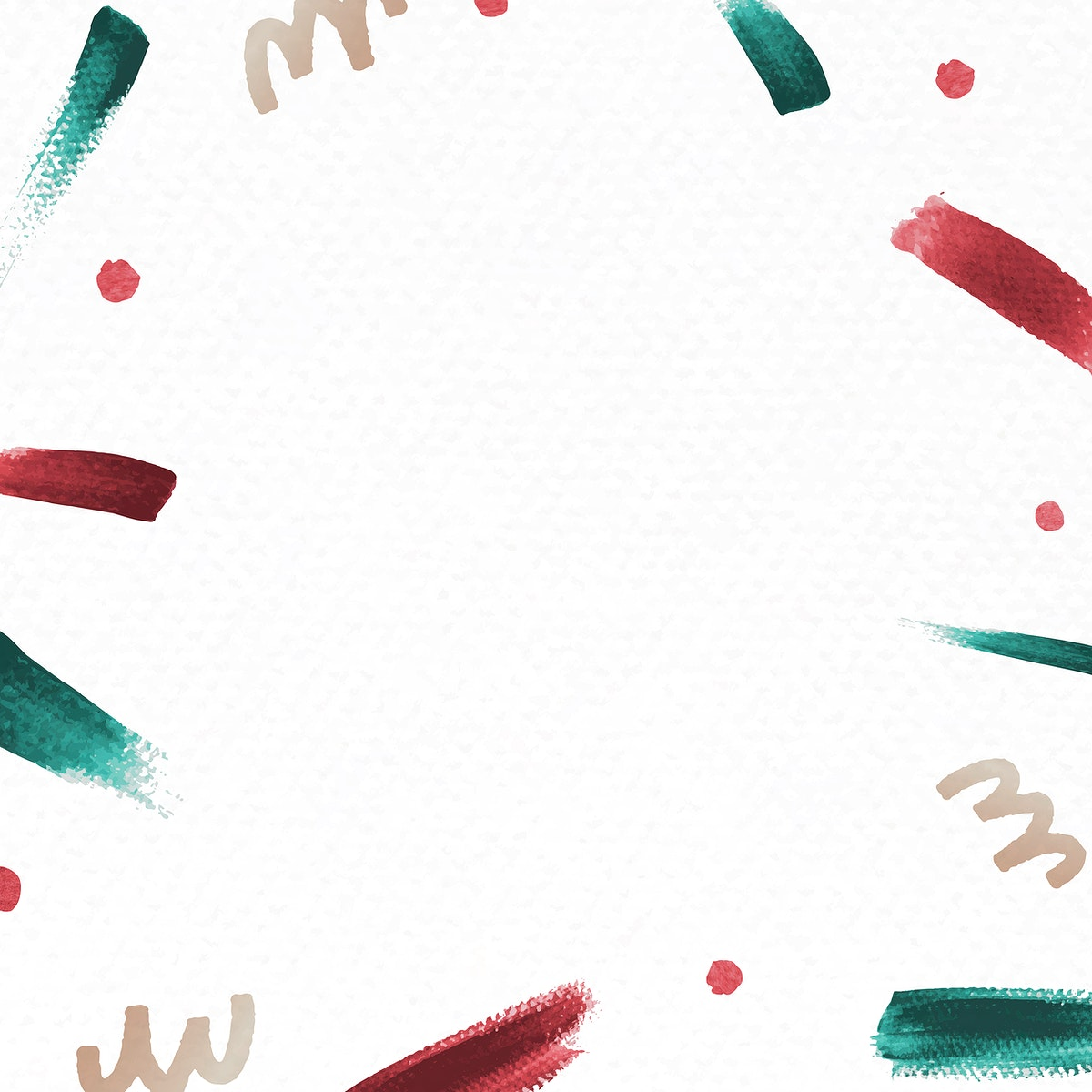 Red and green brush stroke Christmas background vector
