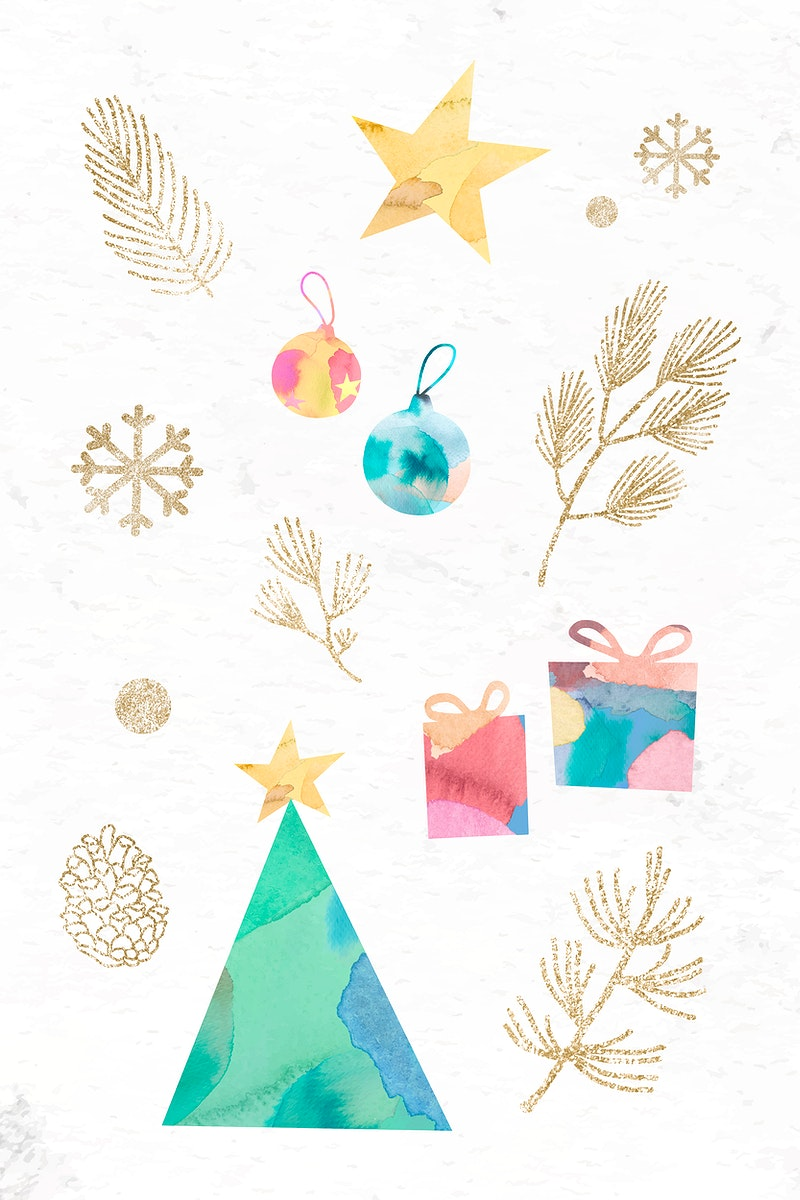 Christmas elements pattern background vector