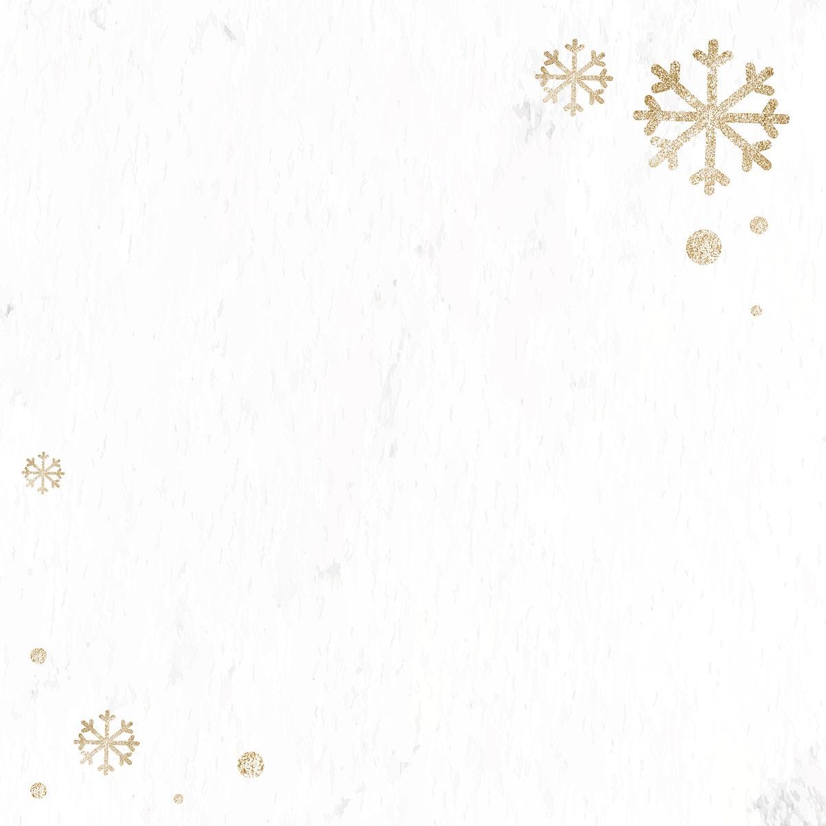 Glittery snowflake Christmas background vector