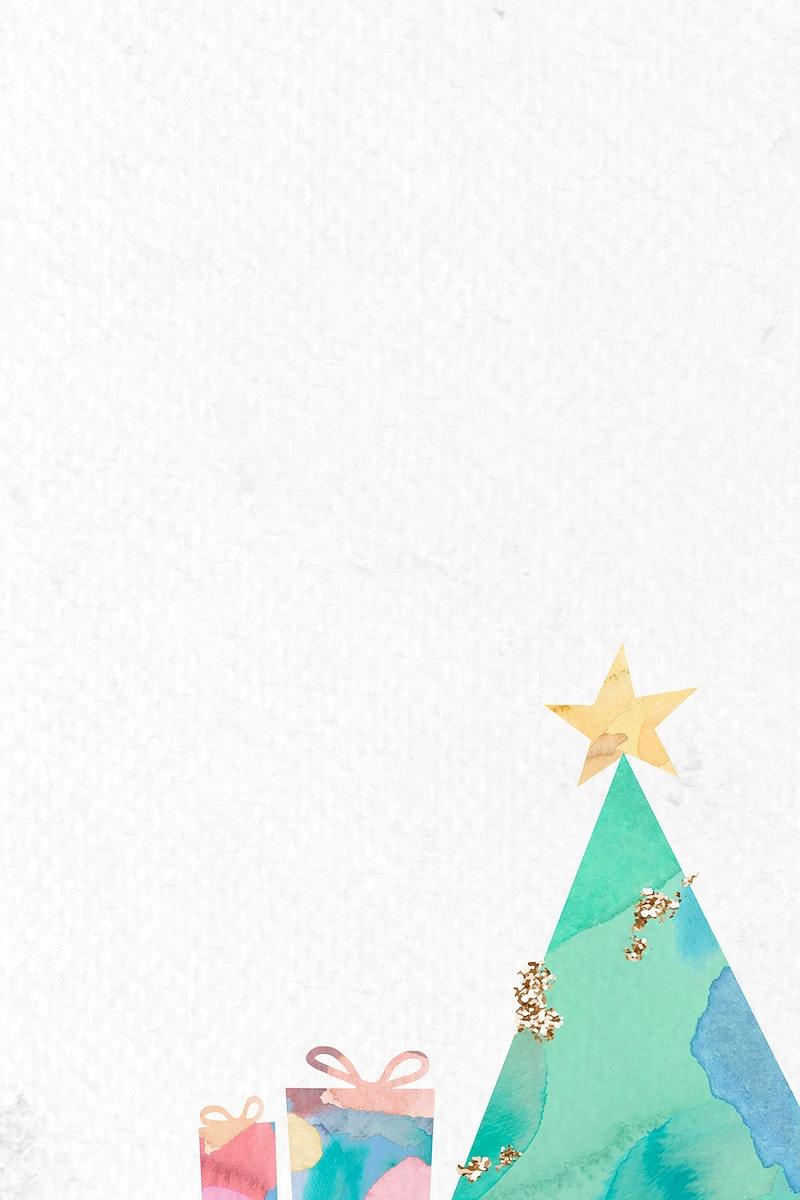 Christmas tree patterned on white background vector