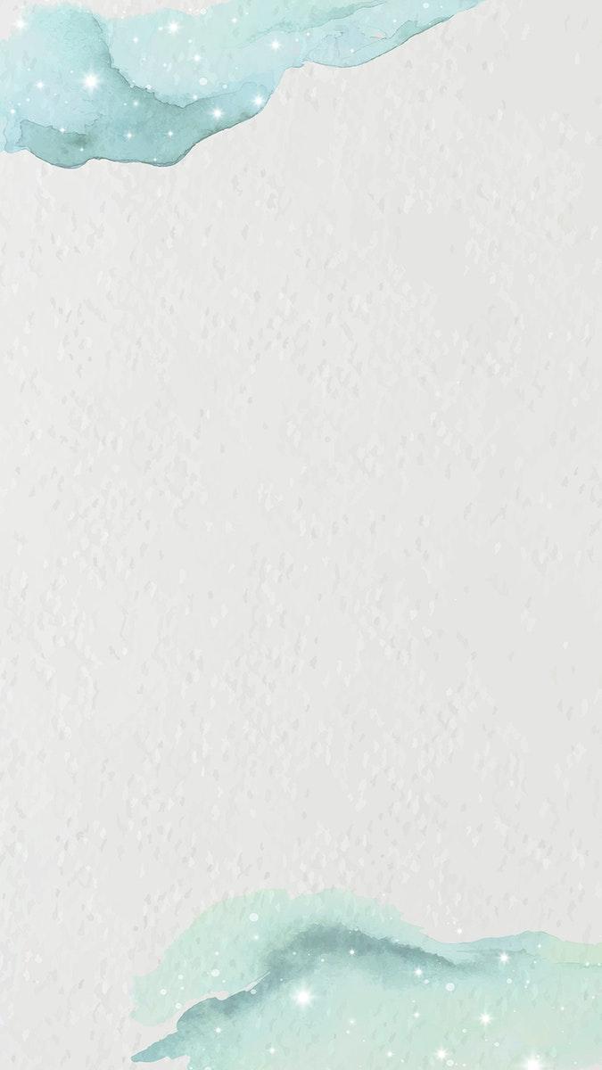 Green watercolor gradient on textured paper mobile phone wallpaper vector